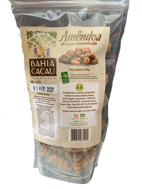 Amêndoa de Cacau Caramelizada 100g - BAHIA CACAU