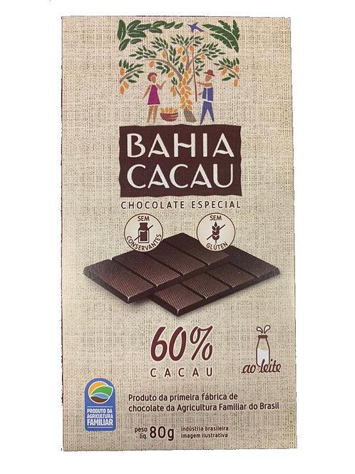 Barra de Chocolate 60% 80g - BAHIA CACAU