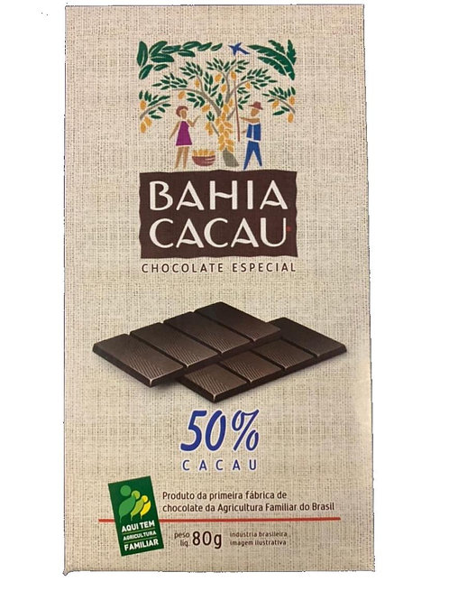 Barra de Chocolate 50% 80g - BAHIA CACAU