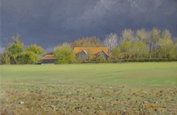 Old Barns, Looming Sky