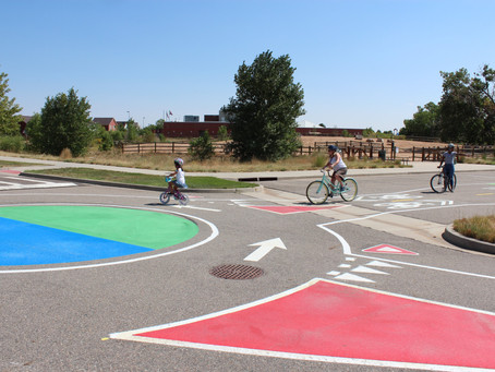 Here's a great place to practice bike riding