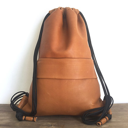 Levant soft leather ochre backpack