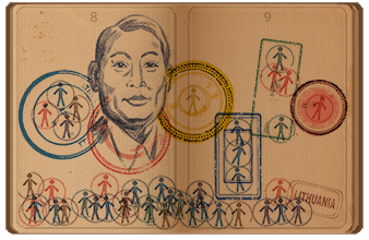 google doodle, Chiune Sugihara