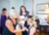 Salon Gigi Stacey working on customers hair