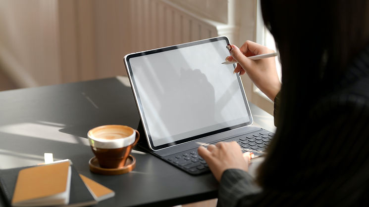 Writing on a tablet