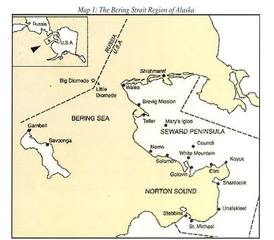 Map Of Bering Strait Region Of Alaska