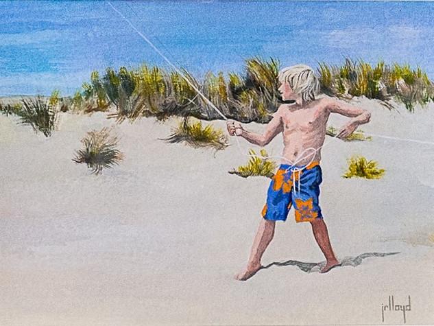 Zach Flying a Kite