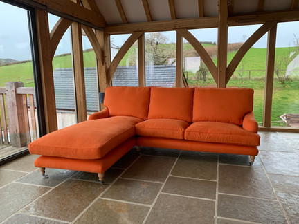 Chaise end sofa