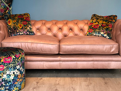 Haytor Footstool and Cushions with Liberty Fabric