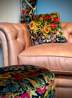 Haytor Stool and Cushions with Liberty Fabric