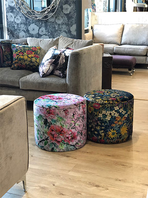 Haytor Stool with Liberty Fabric and Designers Guild Fabric
