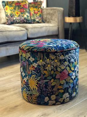 Haytor Footstool with Liberty Fabric