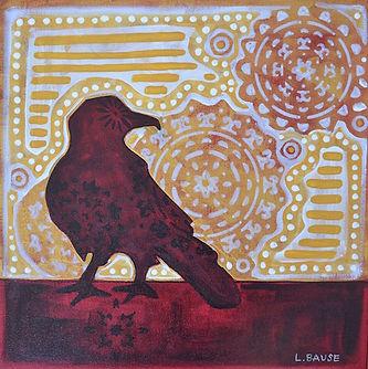 Raven in Red I 12x12 $400.jpg