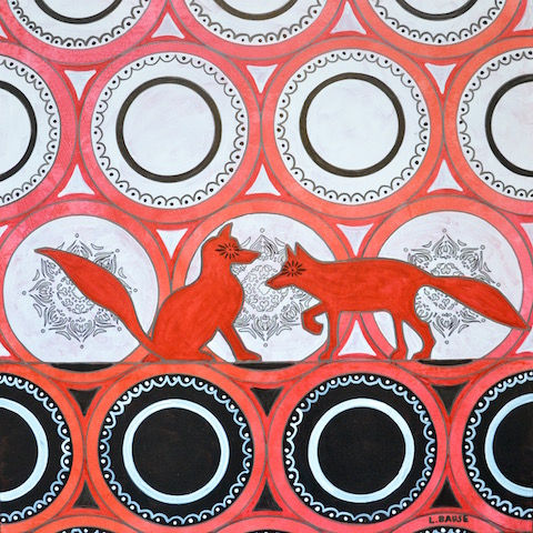 Two Red Foxes 30x30 $1400.00.jpg