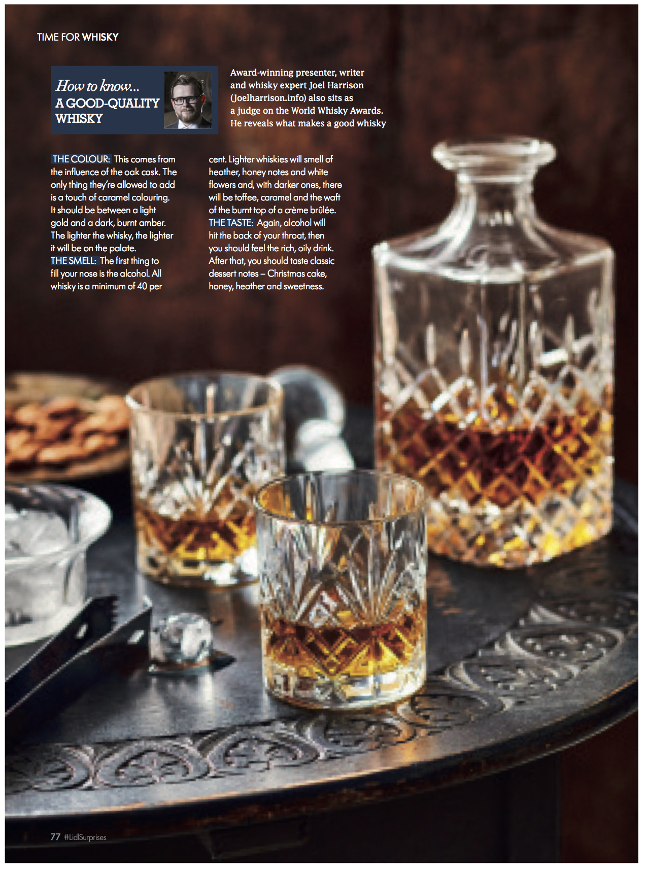 Lidl Magazine Joel Harrison Drinks Whisky Writer