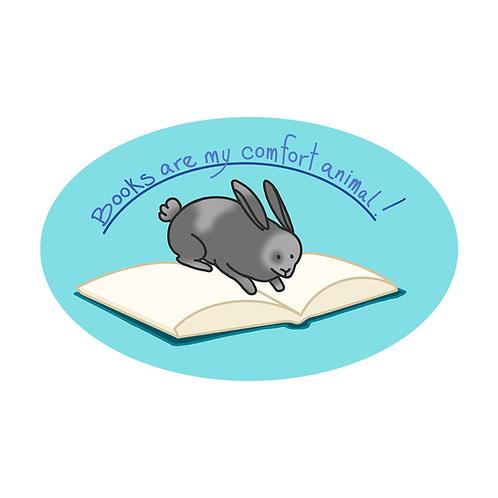 Books are my Comfort Animal Sticker