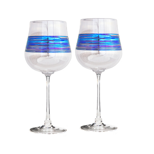 "Romeo ""Rainbowspun"" Wine Glasses"