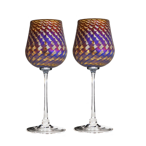 "Romeo ""Honeycomb"" Wine Glasses"