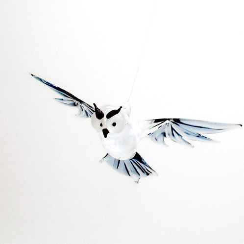 WGK Glass Art - Gray Owl