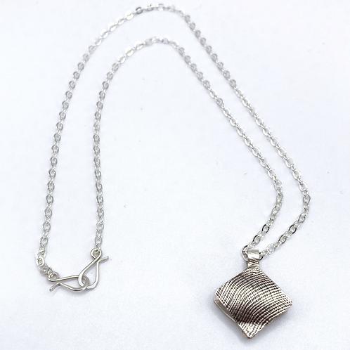 Bent Metal Earrings Necklace