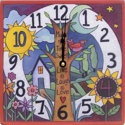 "Sticks ""Big Time"" Square Clock"