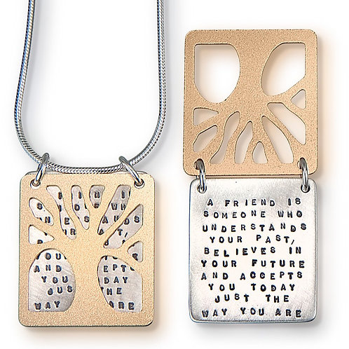 """""""A Friend is Someone"""" Necklace"""