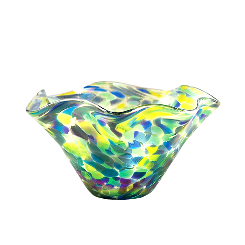 Glass Eye Small Wavy Bowl