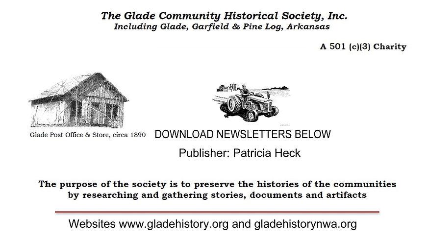 Glade Community Historical Society NewsL