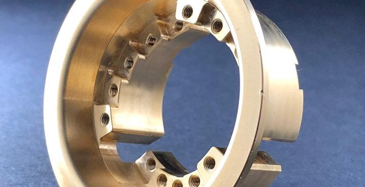 (1) Optional Brass Stepped Inner Ring for VariHub Wheels (3.1oz each)