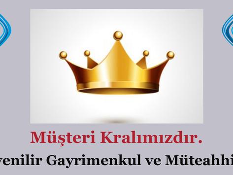 """""""Müşteri Kralımızdır"""". Güvenilir Gayrimenkul ve Müteahhitlik."""