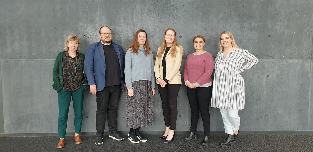 F.v. Margrét Einarsdóttir, Kolbeinn H. Stefánsson, Sonja Ýr Þorbergsdóttir, Kristín Heba Gísladóttir, Drífa Snædal og Adda Guðrún Gylfadóttir