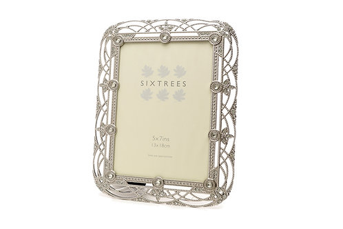 Sixtrees Alice Antique Vintage Shabby Chic Style silver metal photo