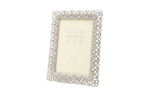 LOUISA VINTAGE ORNATE SILVER PHOTO FRAME