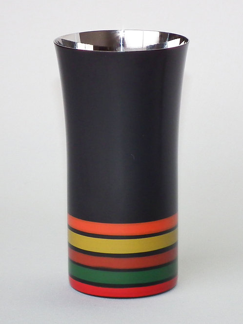 Lacquer stainless beer cup (stripes/small)