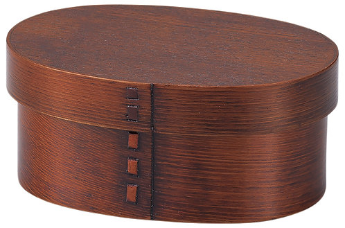 Lacquer wooden lunch box (small)