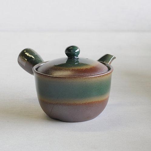 Bankoware Ceramic tea pot (brown/green) (350mL)