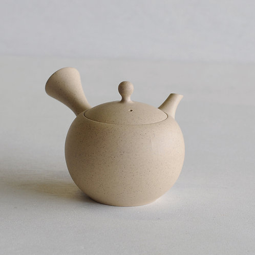 Tokoname ware clay circle tea pot (white) (320mL)