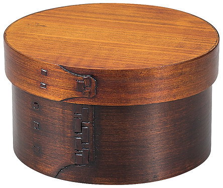 Lacquer wooden lunch box (circle)