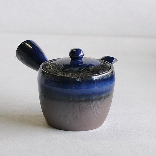 Bankoware Ceramic tea pot (black/blue) (370mL)