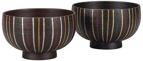 Laquer wooden rice bowls (straw)(2pcs)