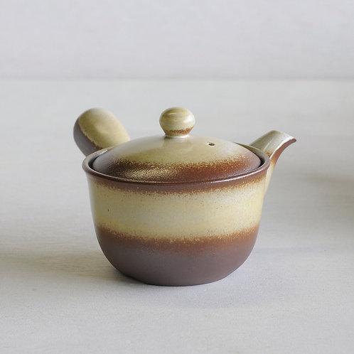 Bankoware Ceramic tea pot (brown/yellow) (350mL)