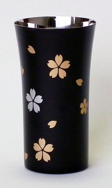 Lacquer stainless beer cup (cherry blossoms/small)