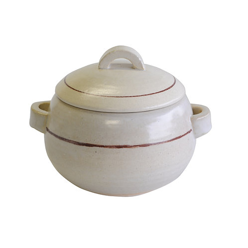 Ceramic rice cooker for 450g (lined in white)
