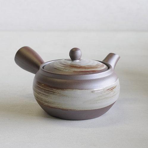 Bankoware Ceramic tea pot (gray/white) (400mL)