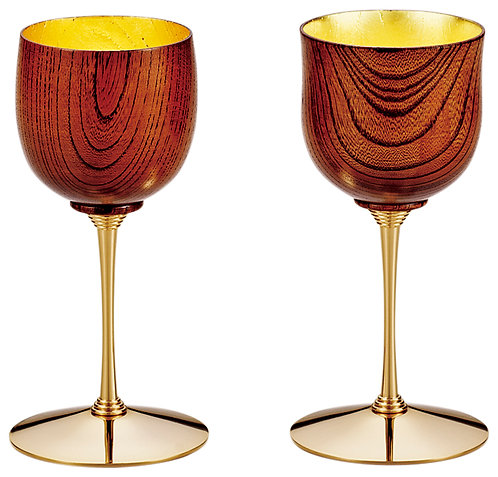 Lacquer wooden wine cup (zelkova/2pcs)
