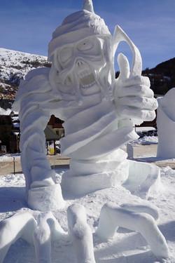 Sculpture neige - Valloire 2019