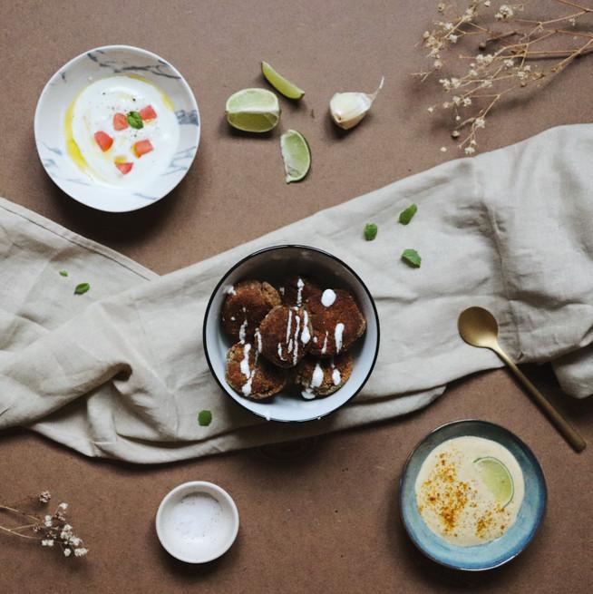Boulettes de lentilles style falafels