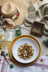 Gnocchis à la crème de shiitake, parmesan & noisette