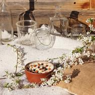 Crémeux de chou-fleur, chorizo crispy, pois-chiches grillés & noisettes torréfiées