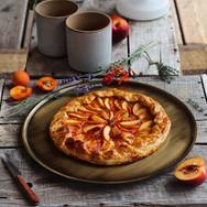 Tarte abricot, nectarine & thym